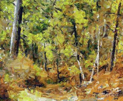 Autumn In The Wood Art Print by Dragica Micki Fortuna