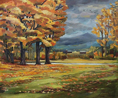 Painting - Autumn In Vermont by Nancy Griswold