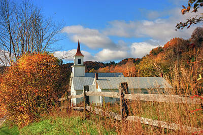 Autumn In The Country Photograph - Autumn In Vermont - North Tunbridge  by Joann Vitali