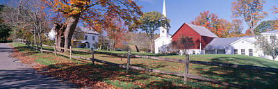Autumn In Village Of Peacham, Vermont Print by Panoramic Images