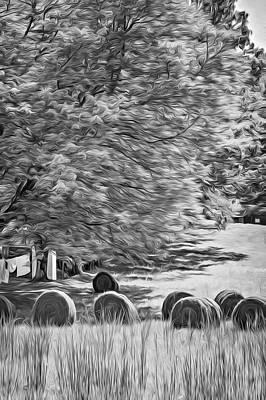 Autumn In West Virginia - Paint Bw Art Print