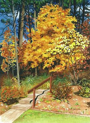 Art Print featuring the painting Autumn Invitation by Barbara Jewell
