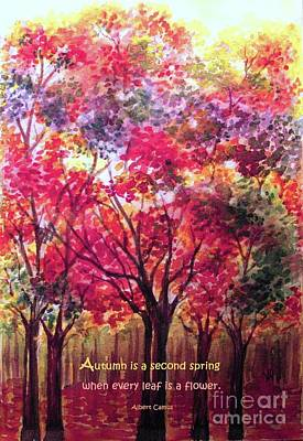 Painting - Autumn Is A Second Spring by Hazel Holland