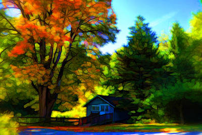 Plein Air Mixed Media - Autumn Is Upon Us by Lilia D