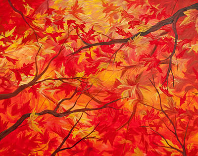 Painting - Autumn by Jessica Tookey