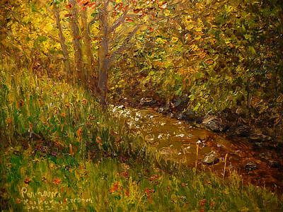 Painting - Autumn Kaikorai Stream by Terry Perham