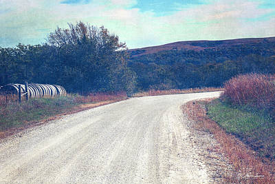 Photograph - Autumn Kansas Countryside Road by Anna Louise