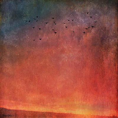 Digital Art - Autumn Kansas Sunset by Anna Louise
