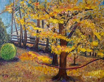 Online Shopping Painting - Autumn by Karen Francis