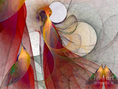 Contemporary Abstract Digital Art - Autumn by Karin Kuhlmann