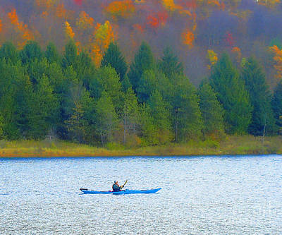 Photograph - Autumn Kayaking by Raymond Earley