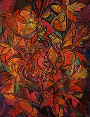 Autumn Kokopelli Art Print by Anna Duyunova