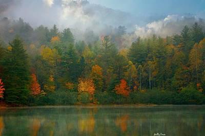 Autumn Lake Art Print by Molly Dean