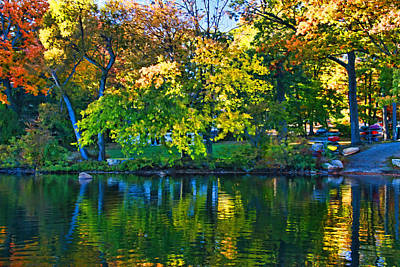 Photograph - Autumn Lake Reflection by Allen Beatty