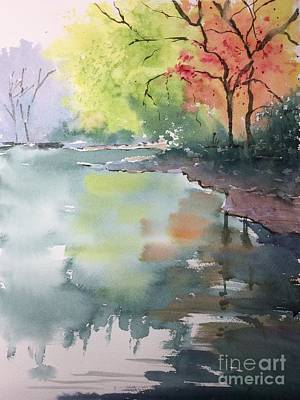 Painting - Autumn Lake by Yohana Knobloch