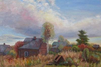 Russianartist Painting - Autumn Landscape by Anna Shurakova