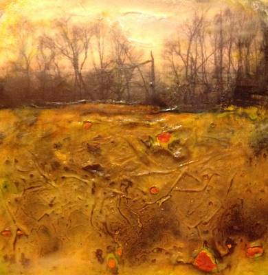 Mixed Media - Autumn Landscape by Anne Stine