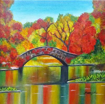 Painting - Autumn Landscape -colors Of Fall by Manjiri Kanvinde