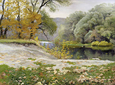 Autumn Landscape In The Vicinity Of Eshar Original