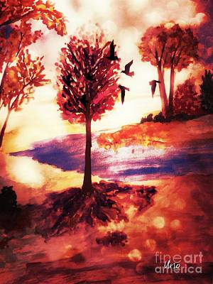 Painting - Autumn Landscape by Maria Urso