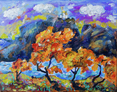 Painting - Autumn Landscape by Maxim Komissarchik