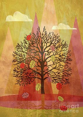 Autumn Landscape Mixed Media - Autumn Landscape by Mirella Pavesi