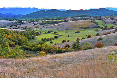 Photograph - Autumn Landscape Of Lika Region  by Brch Photography
