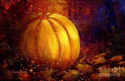 Autumn Landscape Painting Art Print by Annie Zeno