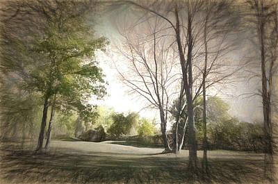 Autumn Landscape Art Print by Rena Trepanier