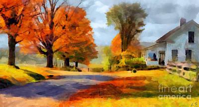 Autumn Landscape Art Print by Sergey Lukashin
