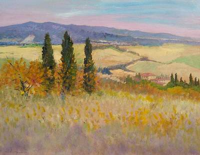 Chianti Vines Painting - Autumn Landscape - Tuscany by Biagio Chiesi