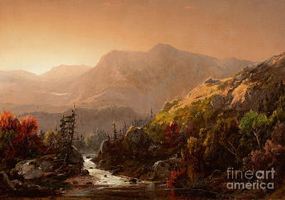 William Sonntag Painting - Autumn Landscape by Celestial Images