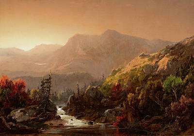 William Sonntag Painting - Autumn Landscape by MotionAge Designs