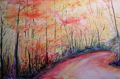 Landsape Painting - Autumn Lane II by Lizzy Forrester