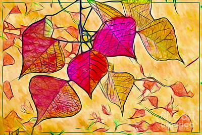 Photograph - Autumn Leaf Impressions by Judi Bagwell