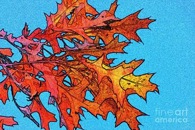 Autumn Leaves 14 Print by Jean Bernard Roussilhe