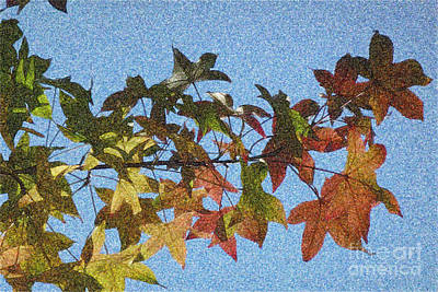Print featuring the photograph Autumn Leaves 3 by Jean Bernard Roussilhe