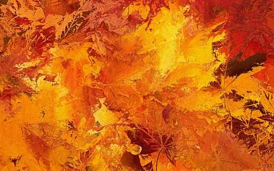 Autumn Leaves Abstract Original by Dan Sproul