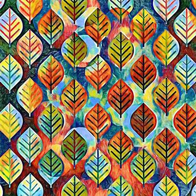 Painting - Autumn Leaves Abstract by Gabriella Weninger - David