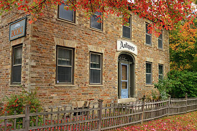 Photograph - Autumn Leaves And Antiques by James Kirkikis