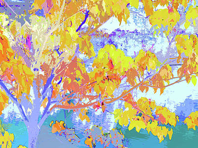Digital Art - Autumn Leaves by Ann Johndro-Collins