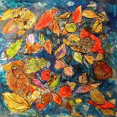 Mixed Media - Autumn Leaves by Barbara O'Toole