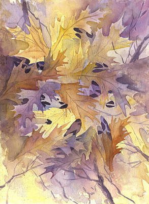 Autumn Leaves Art Print by Gladys Folkers