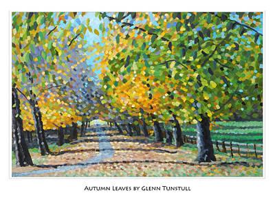 Painting - Autumn Leaves Poster by Glenn Tunstull