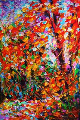 Painting - Autumn Leaves by Helen Kagan