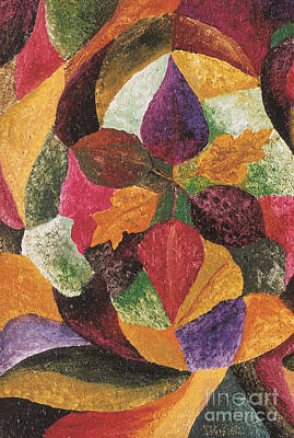 Painting - Autumn Leaves I by Ikahl Beckford