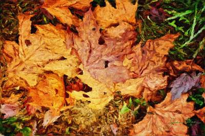 Painting - Autumn Leaves by Joan Reese