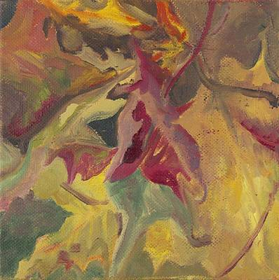 Wall Art - Painting - Autumn Leaves by Katherine Farrell