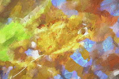 Abstract Shapes Janice Austin Royalty Free Images - Autumn Leaves Macro 4 Impressionistic Royalty-Free Image by Linda Brody