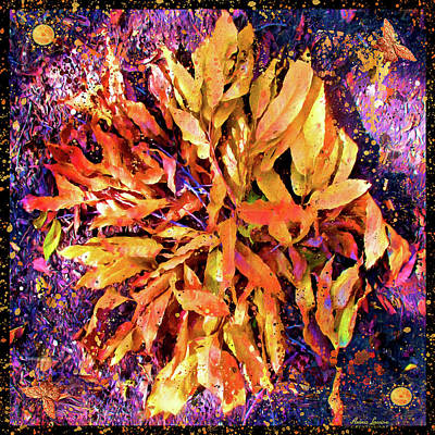Photograph - Autumn Leaves Mandala Earth Art by Anna Louise
